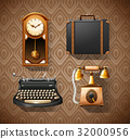Household objects in vintage styles 32000956
