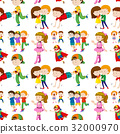 Seamless background design with many children 32000970
