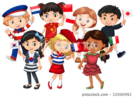 Children come from different countries 32000992