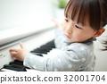 electric, piano, girl 32001704