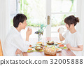Young couple, couple, meal 32005888