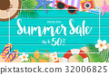 Summer sale background. Season vacation, weekend. 32006825