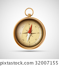 Icon old metal compass. Stock vector illustration. 32007155