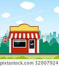 Shop on a street 32007924