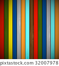 Wooden background of multicolored boards 32007978