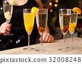 Four glasses full of champagne 32008248