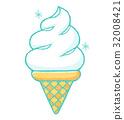 soft ice cream, soft-serve ice cream, ice cream 32008421