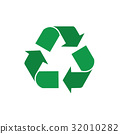 Recycle Symbol Green Arrows Logo Web Icon 32010282