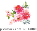 Greeting card with watercolor flowers handmade. 32014089