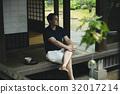 일본 여행을하는 프랑스 인 32017214