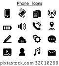 Phone icon set Vector illustration Graphic Design 32018299