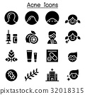 Acne icon set Vector illustration Graphic Design 32018315