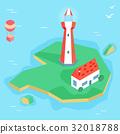 等大的 燈塔 淺 32018788