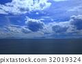 바다, 하늘, 구름 32019324