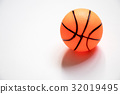 Basketball child toy placed on white background 32019495