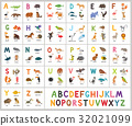 Cute vector zoo alphabet. Abc animals 32021099