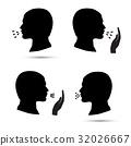 Cough icons set 32026667