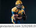 American football player, ball in hands, NFL 32026819