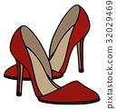 Red needle heel shoes 32029469