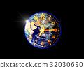 지구와 시계 32030650