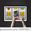 Slot Machine Game Music Symbols 32032811