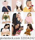 Set of Diversity People Love Smitten Feeling Studio Collage 32034242