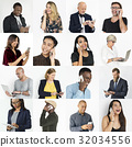 Collection of diverse people using digital devices 32034556