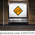 Bus Stop Sign Vehicle Symbol 32037245
