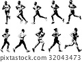 runners collection, sketch illustration 32043473