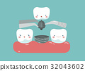 Tooth implant ,teeth and tooth concept of dental 32043602
