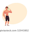 bodybuilder, training, vector 32043802