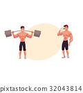 bodybuilder, vector, fitness 32043814
