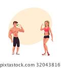 bodybuilder, vector, man 32043816