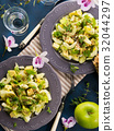 Green Avocado cucumber served healthy salad 32044297