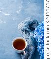 tea, cup, blue 32044747