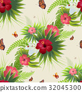 red, hibiscus, flower 32045300