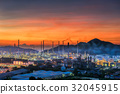 Oil refinery plant at twilight 32045915