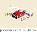 isometric vector of fireman characters collection 32046147