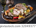 Leg of Lamb with Fruits and Vegetables 32049377