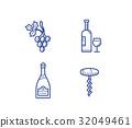 Wine icons set 32049461