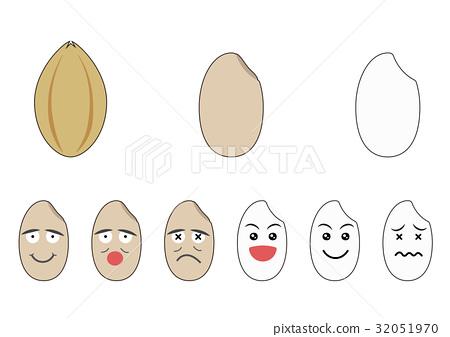 米五穀例證_白色 32051970