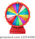 Realistic spinning fortune wheel, lucky roulette 32054088