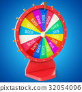 Realistic spinning fortune wheel, lucky roulette 32054096