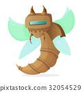Cartoon clip art illustration of a robot wasp or 32054529
