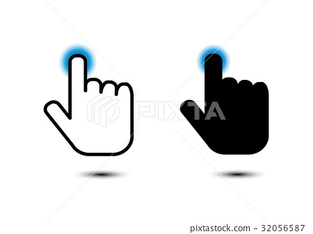 click hand icon pointer 32056587