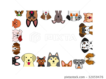 dog, dogs, frame - Stock Illustration [32059476] - PIXTA