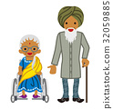 Senior couple Indian 32059885