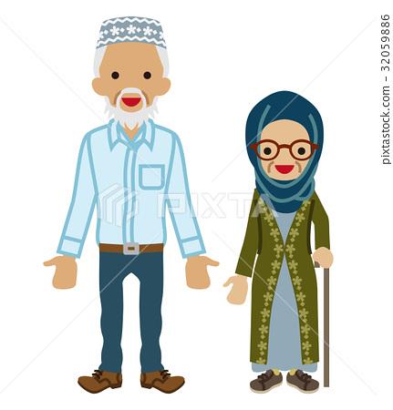 年長夫婦 穆斯林 老年夫婦 32059886