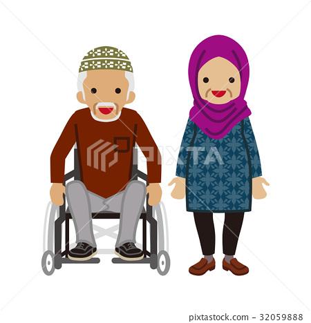 資深夫婦回教輪椅人 32059888