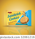 sandwich cookie package design 32061216